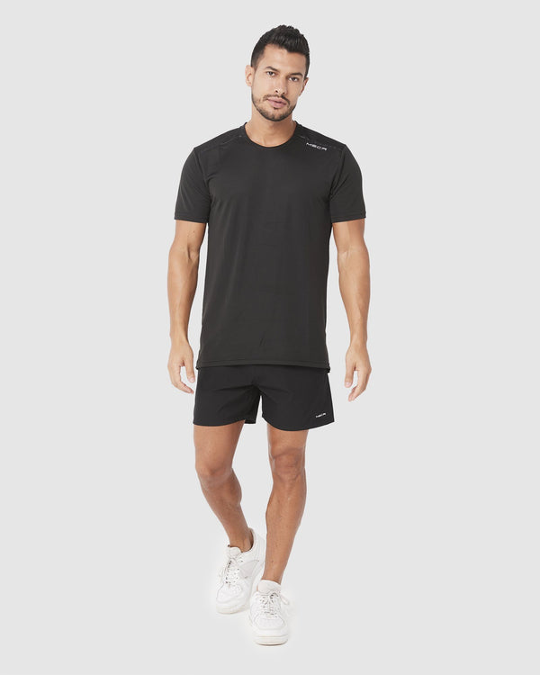 MENS TOPS - ASPIRE TRAINING TEE BLACK