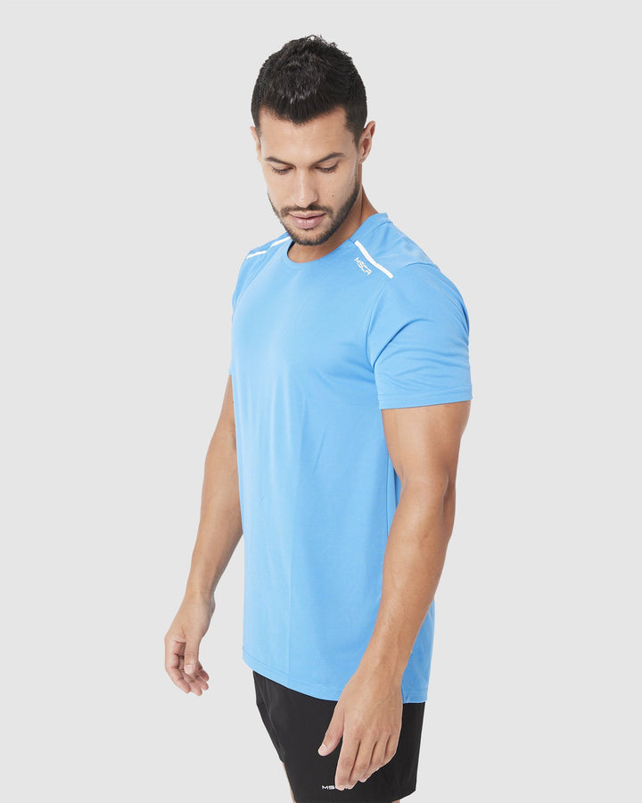 MENS TOPS - ASPIRE TRAINING TEE SKY BLUE