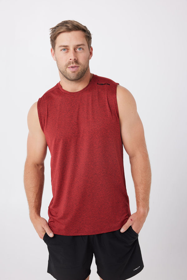 MENS TOPS - PHOENIX SLEEVELESS TANK - RED