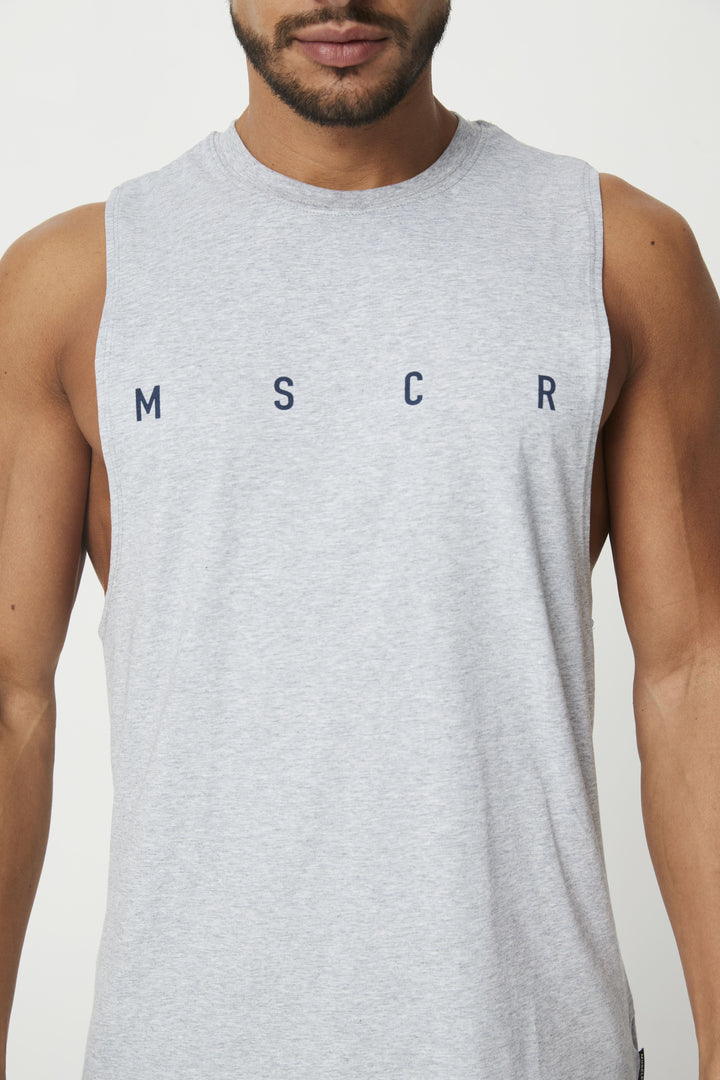 MENS TOPS - ROCKY MUSCLE TEE GREY MARLE (M S C R)