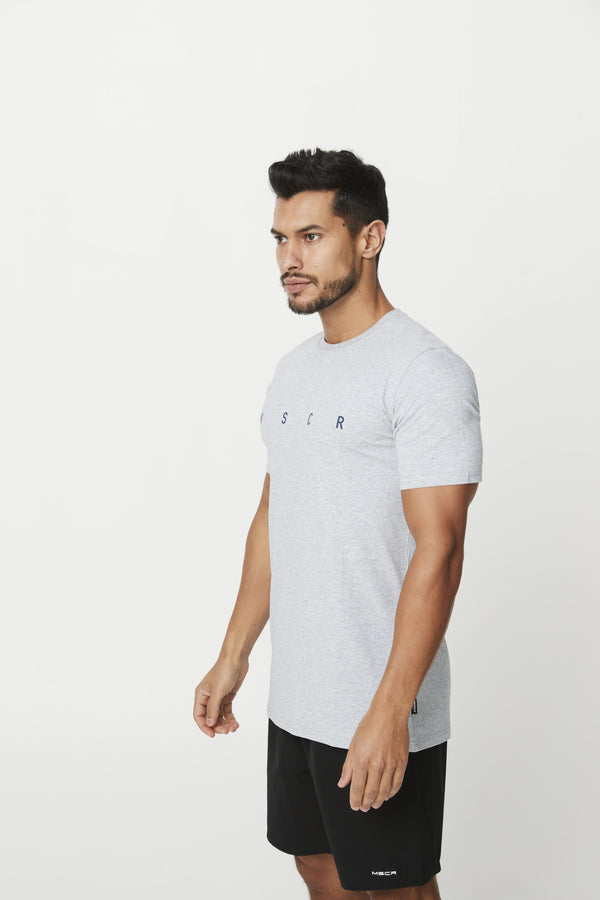 MENS TOPS - SYDNEY TEE GREY MARLE
