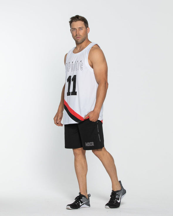 MENS TSHIRTS & SINGLETS - Basketball Tank White
