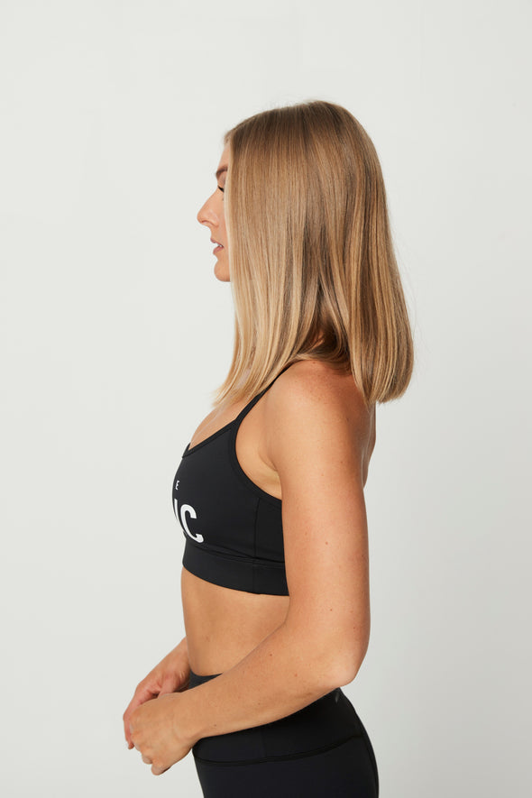 SPORTS BRAS & CROPS - FLICK BRA BLACK