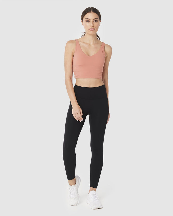 SPORTS BRAS & CROPS - LUXE BROOKE CROP APRICOT