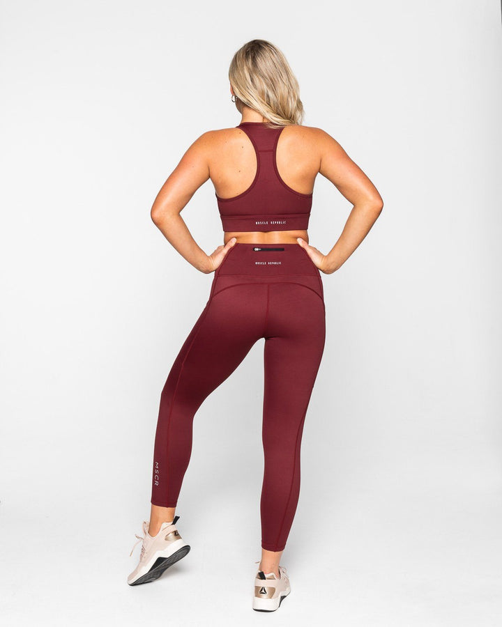 STRUCTURE SPORTS BRA BURGUNDY