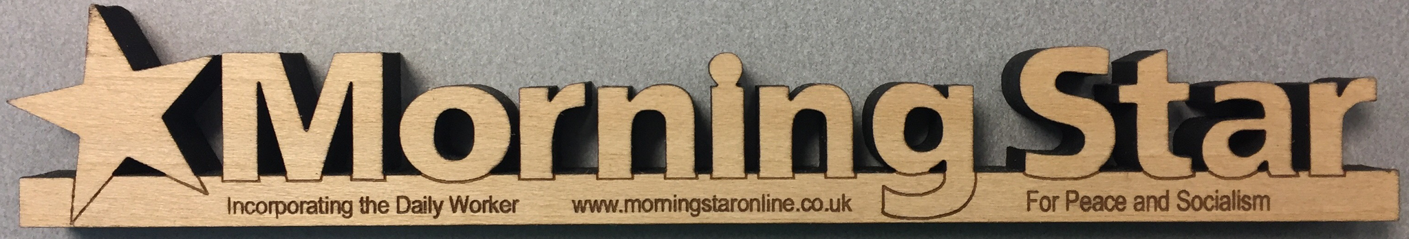Morning Star Wooden Logo