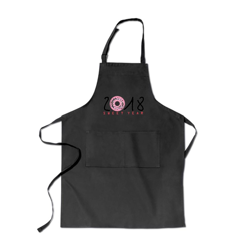 2018 Is Sweet Year New Apron - Black / Polyster - Productgenjpg