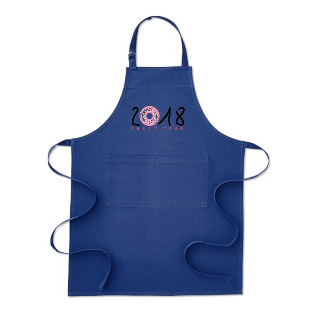 2018 Is Sweet Year New Apron - Blue / Polyster - Productgenjpg