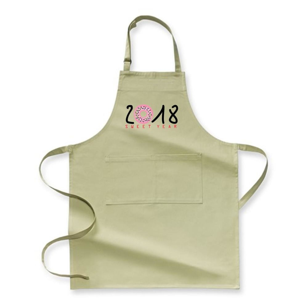 2018 Is Sweet Year New Apron - Green / Polyster - Productgenjpg