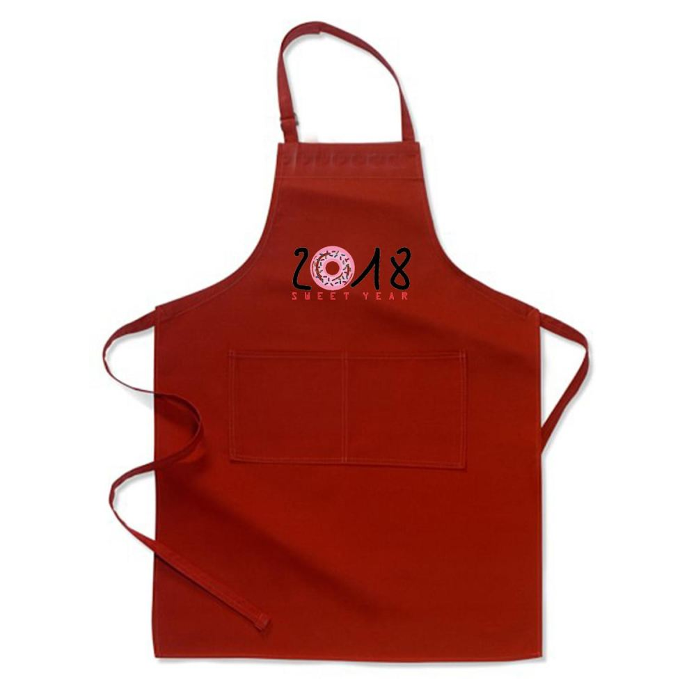 2018 Is Sweet Year New Apron - Red / Polyster - Productgenjpg