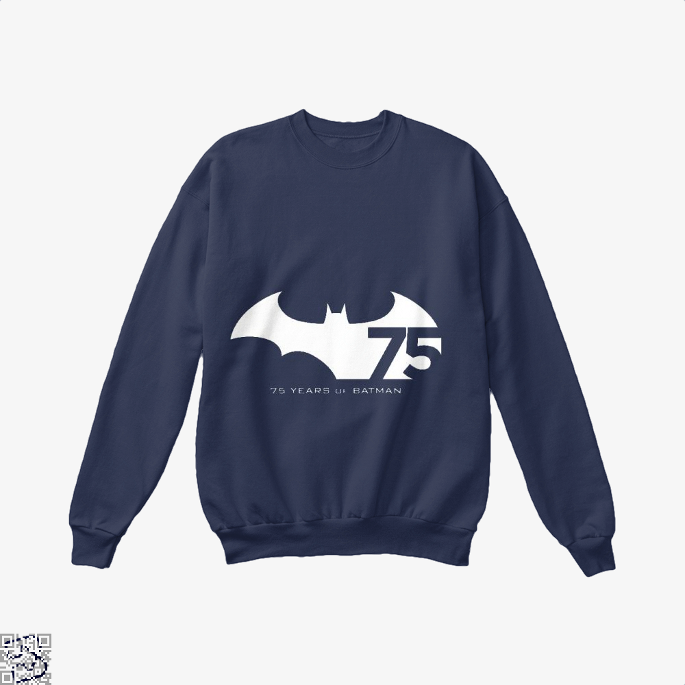75 Years Of Batman Crew Neck Sweatshirt - Blue / X-Small - Productgenjpg