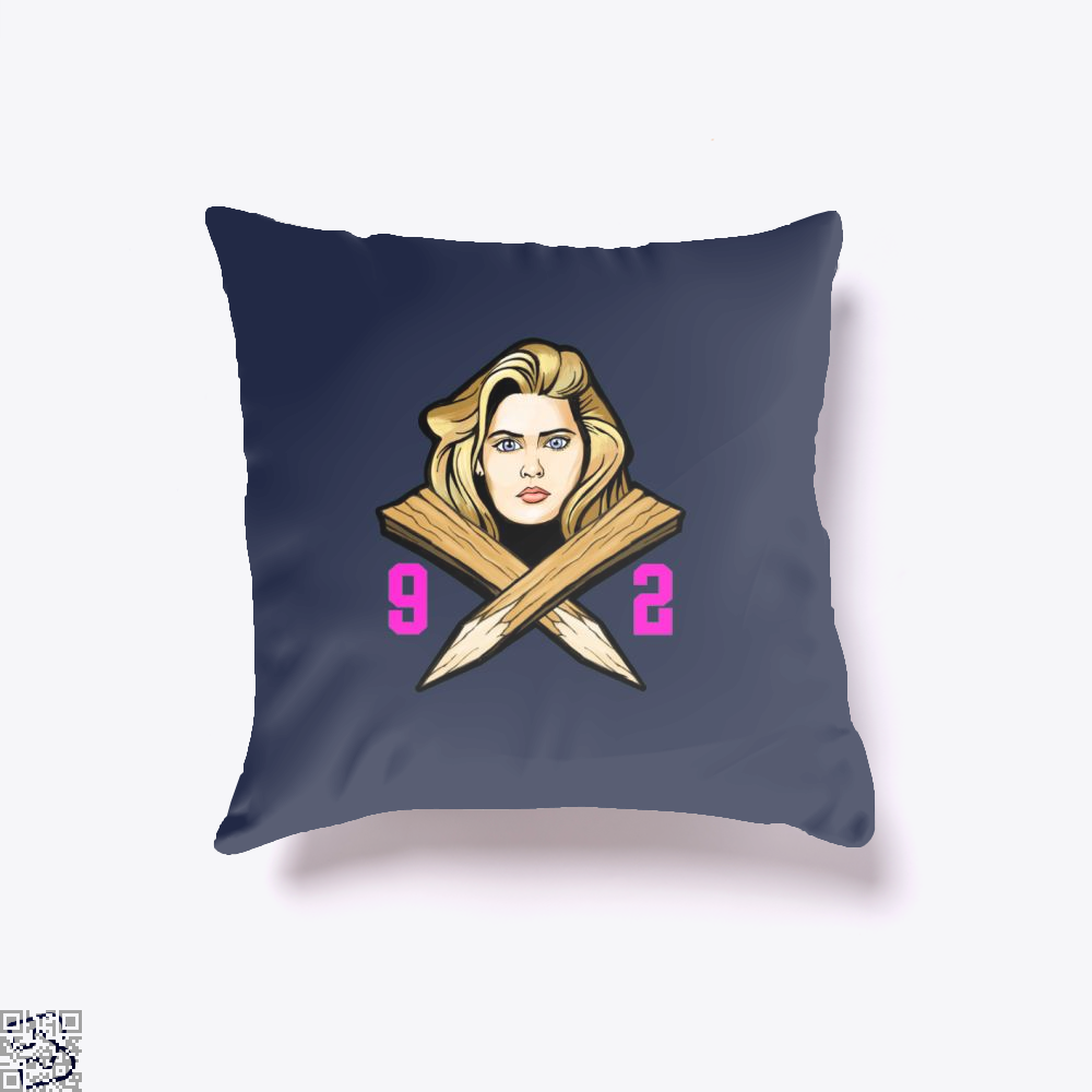 92 Slayer Buffy The Vampire Throw Pillow Cover - Blue / 16 X - Productgenjpg