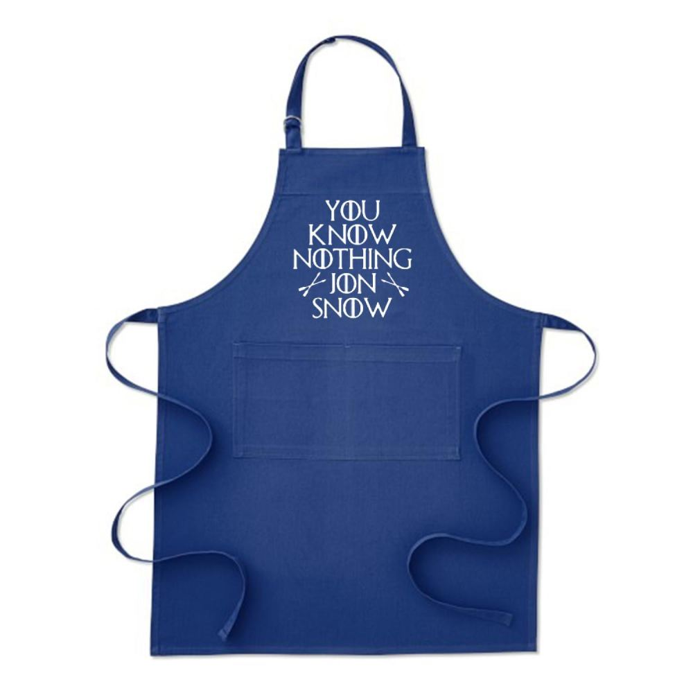 Adult You Know Nothing Jon Snow Game Of Thrones Apron - Blue / Polyster - Productgenjpg