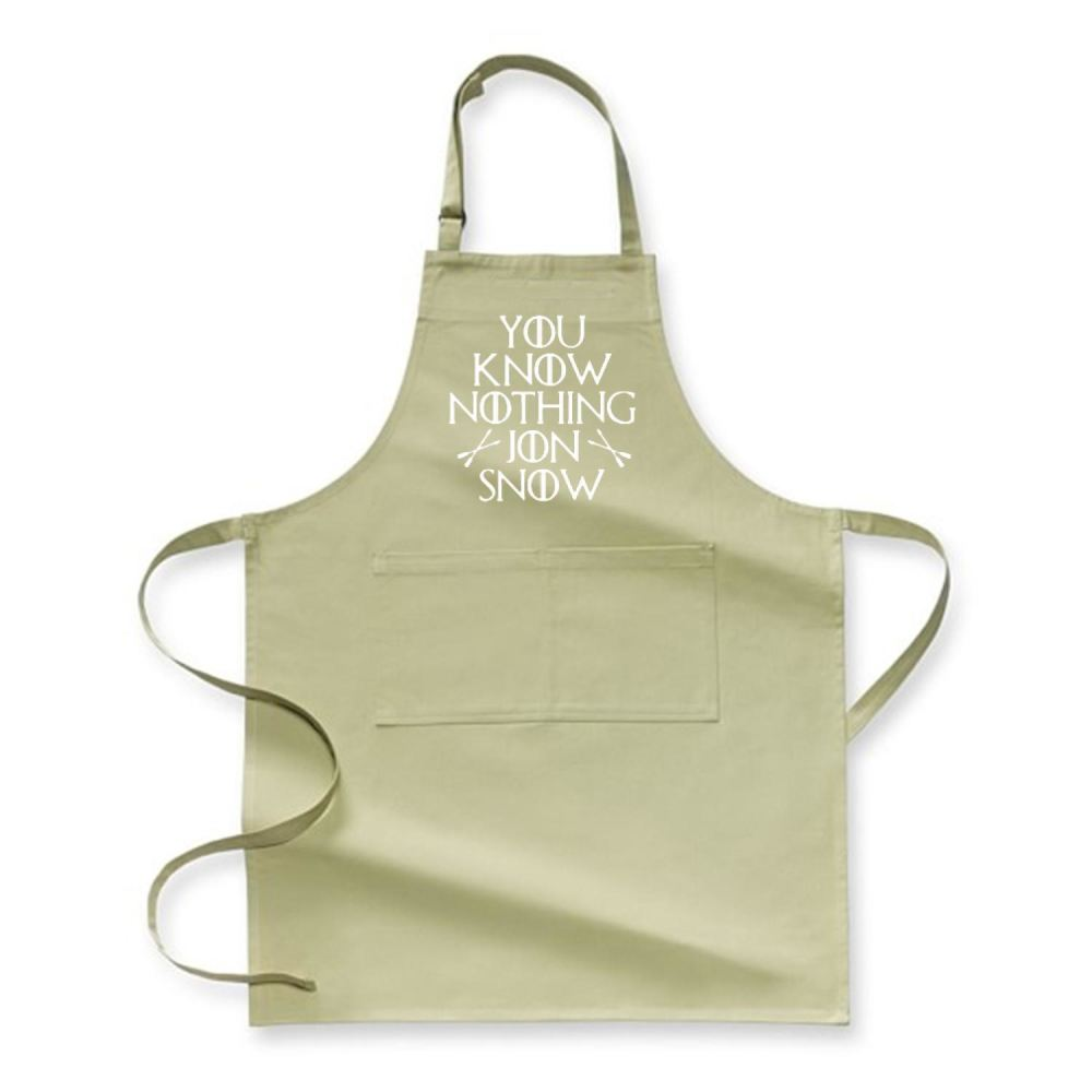 Adult You Know Nothing Jon Snow Game Of Thrones Apron - Green / Polyster - Productgenjpg