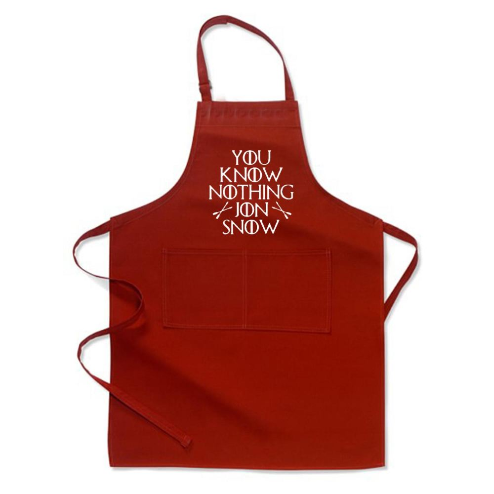 Adult You Know Nothing Jon Snow Game Of Thrones Apron - Red / Polyster - Productgenjpg