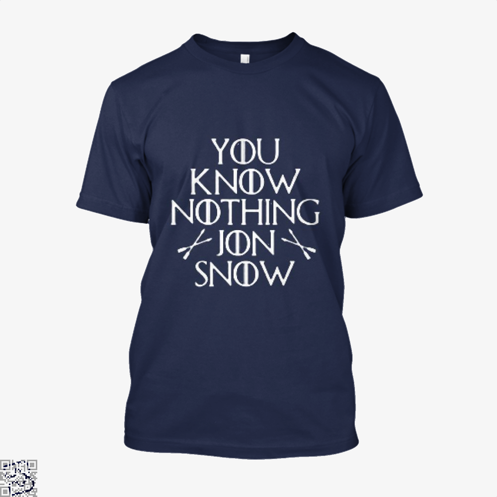 Adult You Know Nothing Jon Snow Game Of Thrones Shirt - Men / Blue / X-Small - Productgenjpg