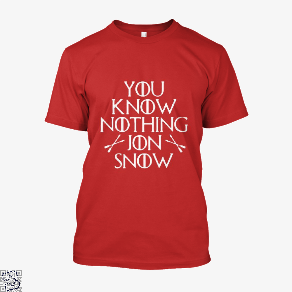 Adult You Know Nothing Jon Snow Game Of Thrones Shirt - Men / Red / X-Small - Productgenjpg