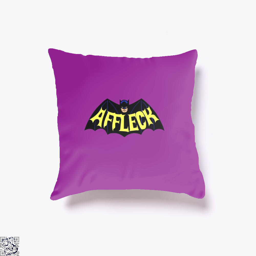 Affleck Batman Throw Pillow Cover - Purple / 16 X - Productgenjpg