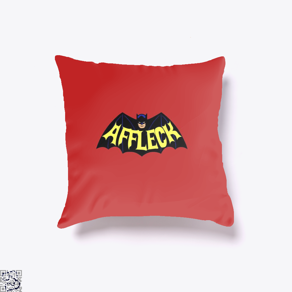 Affleck Batman Throw Pillow Cover - Red / 16 X - Productgenjpg