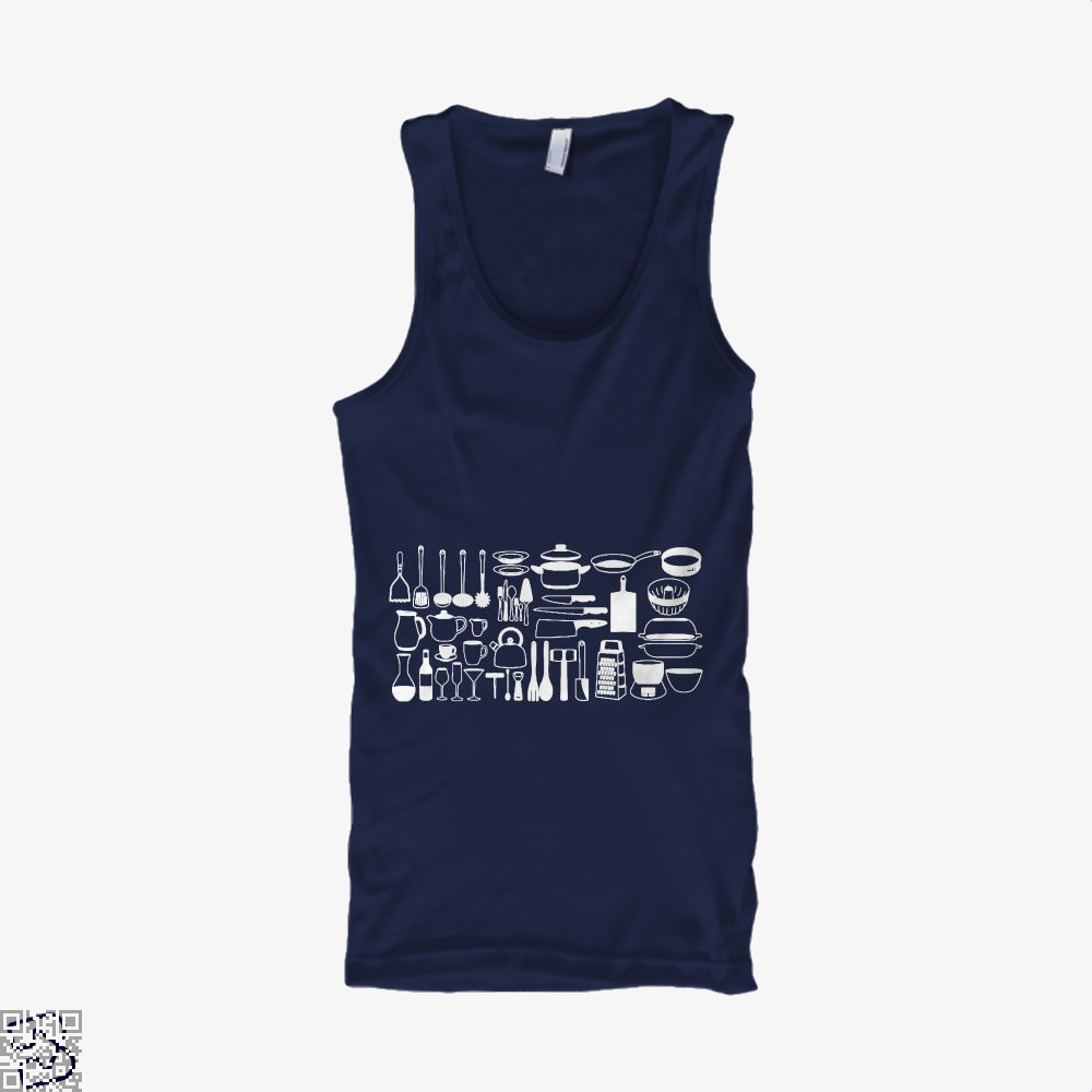 All My Cookware Chefs Tank Top - Men / Blue / Small - Productgenapi