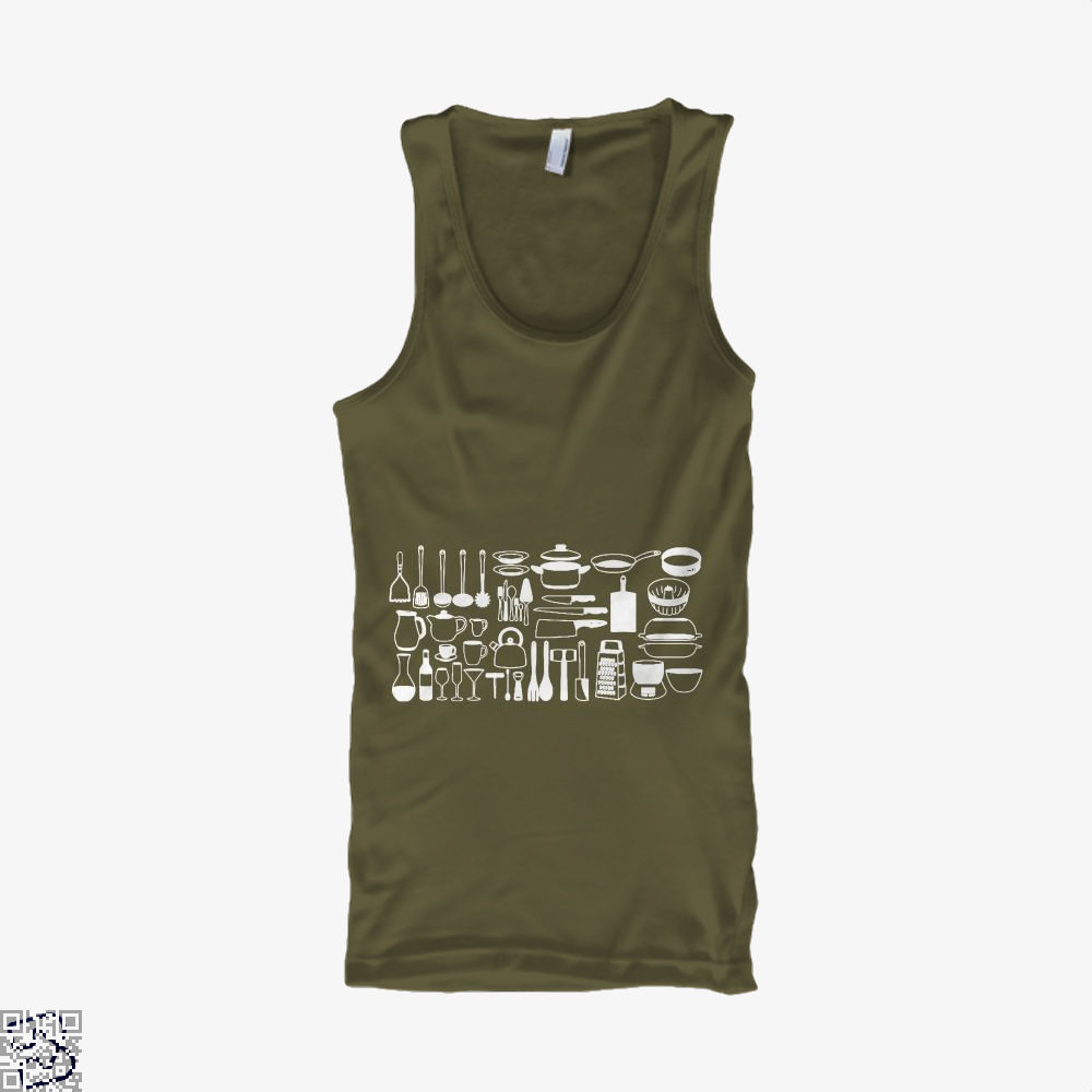 All My Cookware Chefs Tank Top - Men / Brown / Small - Productgenapi