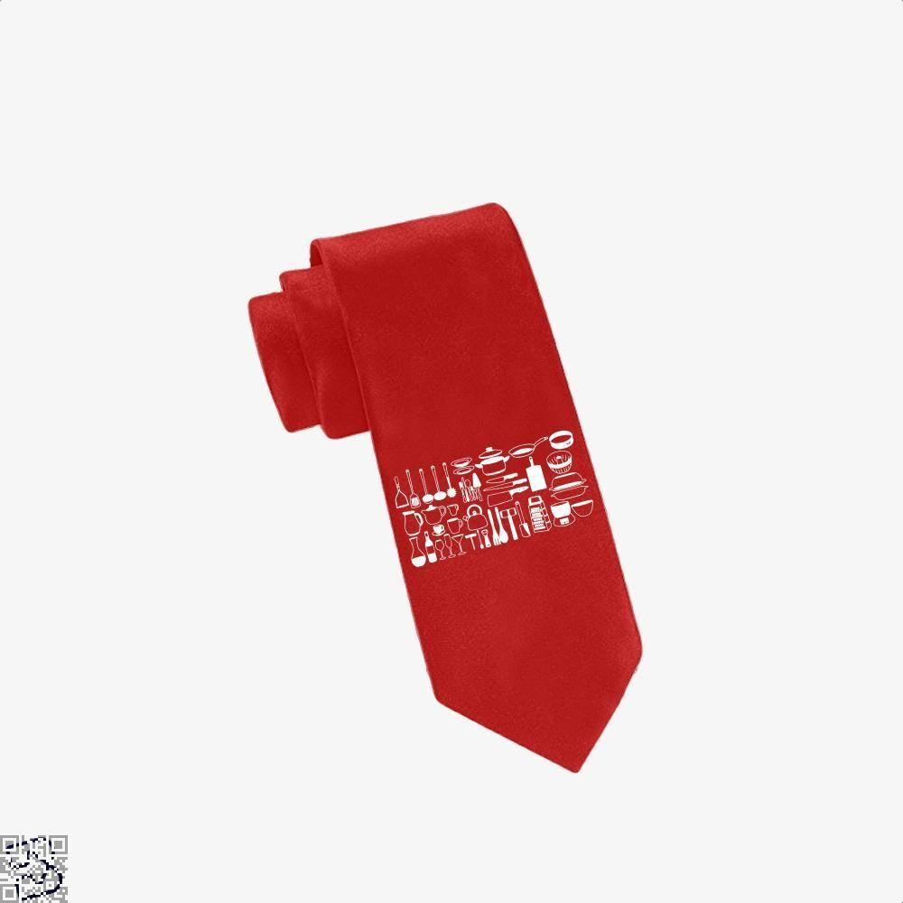 All My Cookware Chefs Tie - Red - Productgenapi