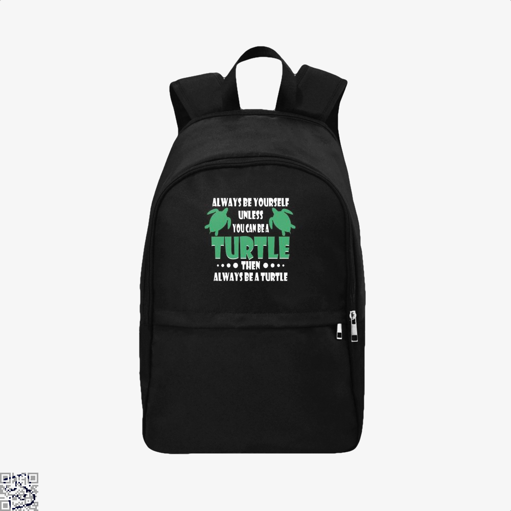 Always Be Yourself Turtle Sea Turtles Backpack - Black / Adult - Productgenjpg