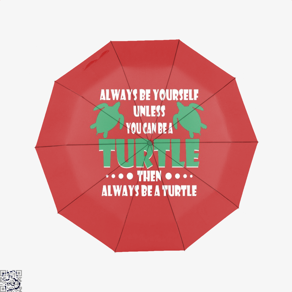 Always Be Yourself Turtle Sea Turtles Umbrella - Red - Productgenjpg