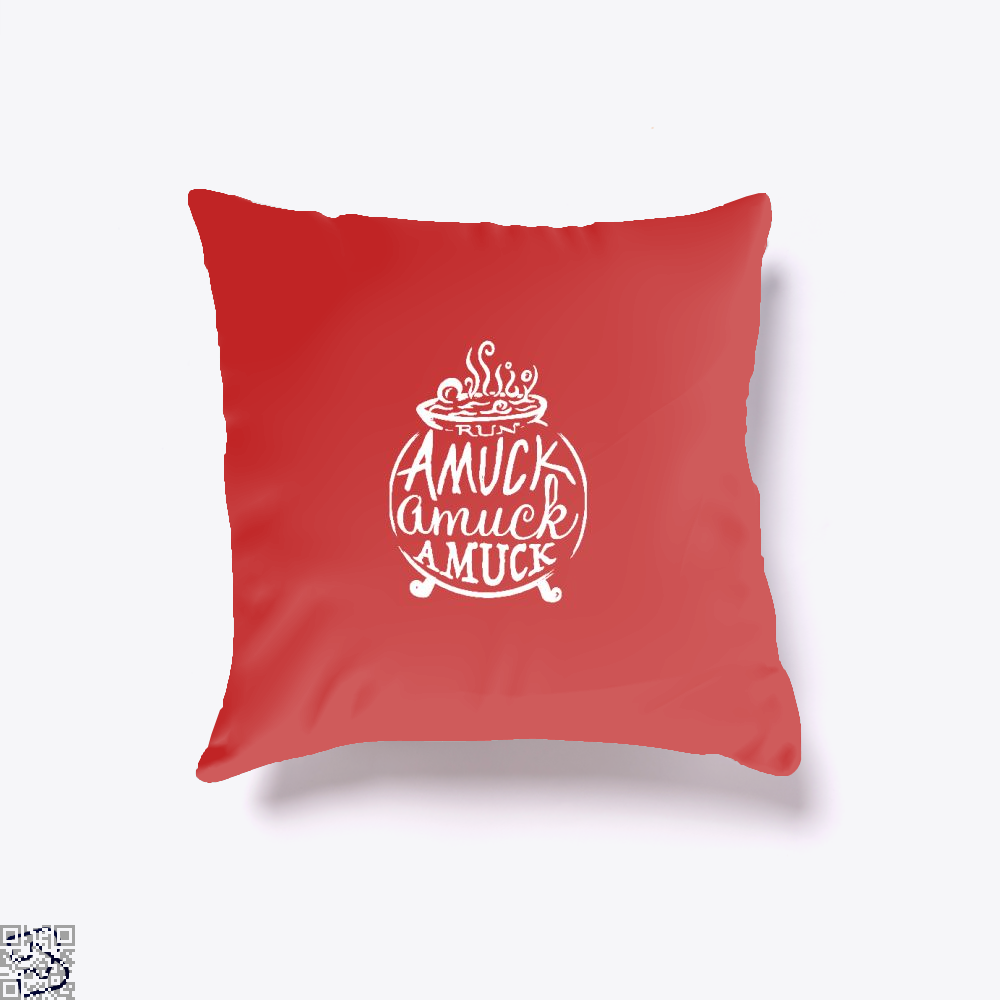 Amuck Halloween Throw Pillow Cover - Red / 16 X - Productgenjpg