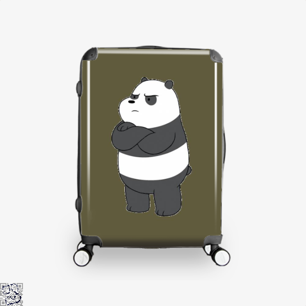 Angry Panda Bear We Bare Bears Suitcase - Brown / 16 - Productgenapi