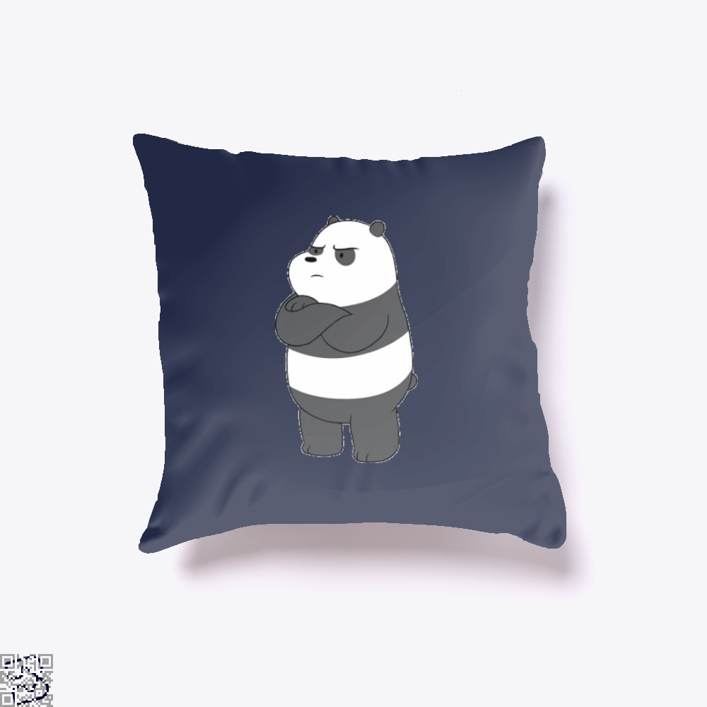 Angry Panda Bear We Bare Bears Throw Pillow Cover - Blue / 16 X - Productgenapi