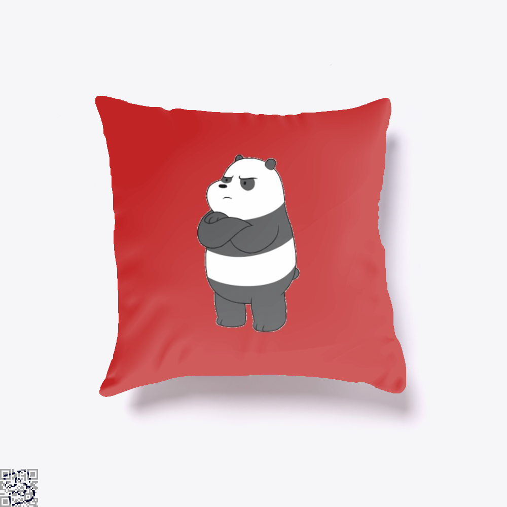 Angry Panda Bear We Bare Bears Throw Pillow Cover - Red / 16 X - Productgenapi