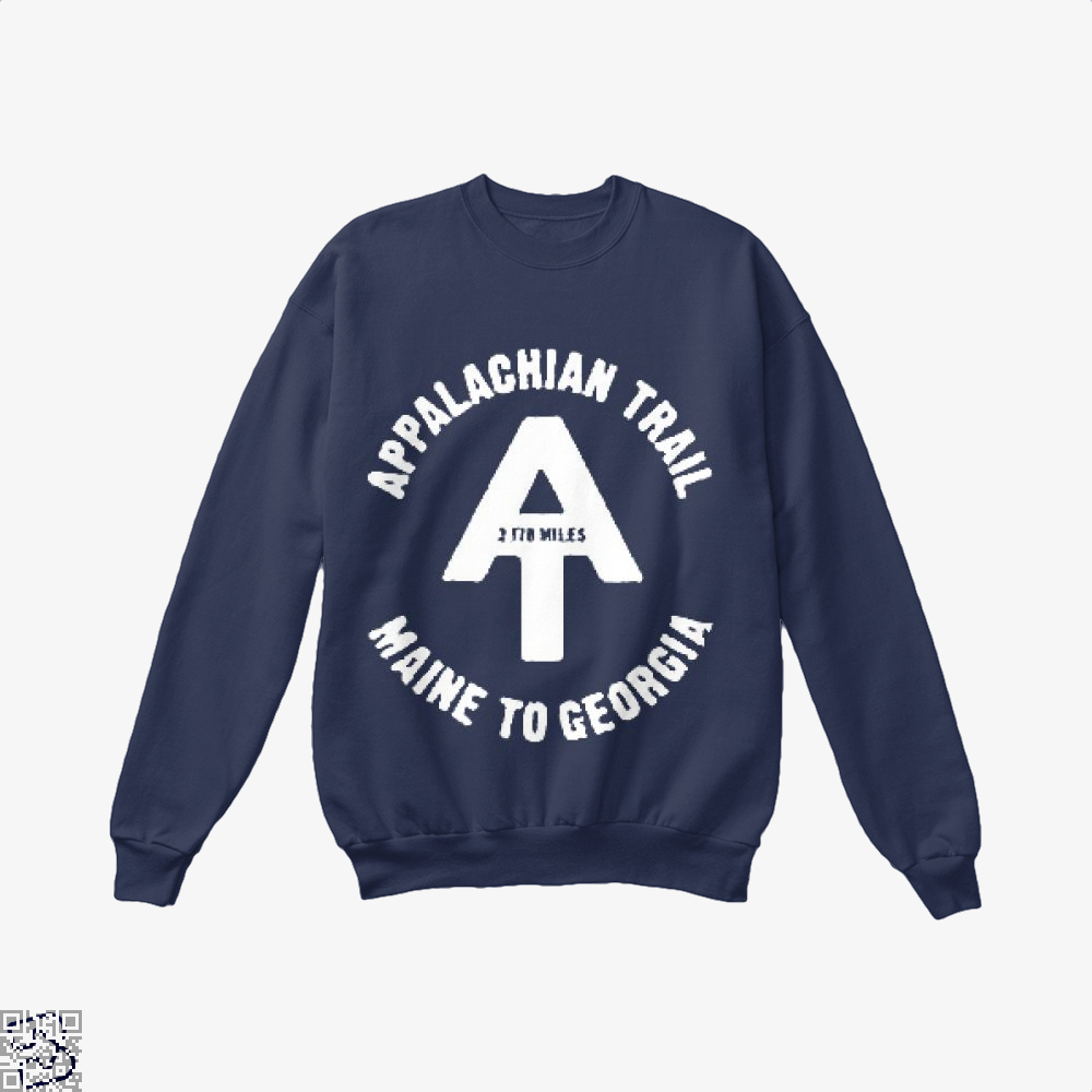 Appalachian Trail Droll Crew Neck Sweatshirt - Blue / X-Small - Productgenjpg