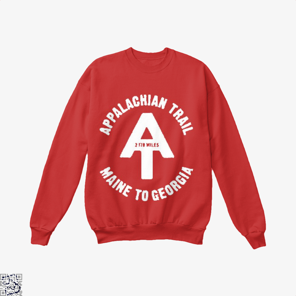 Appalachian Trail Droll Crew Neck Sweatshirt - Red / X-Small - Productgenjpg