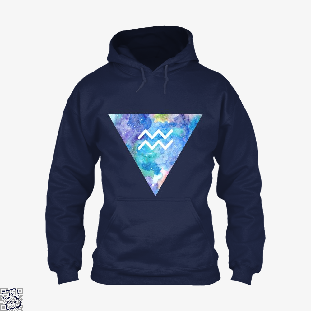 Aquarius Zodiac Astrology Hoodie - Blue / X-Small - Productgenapi