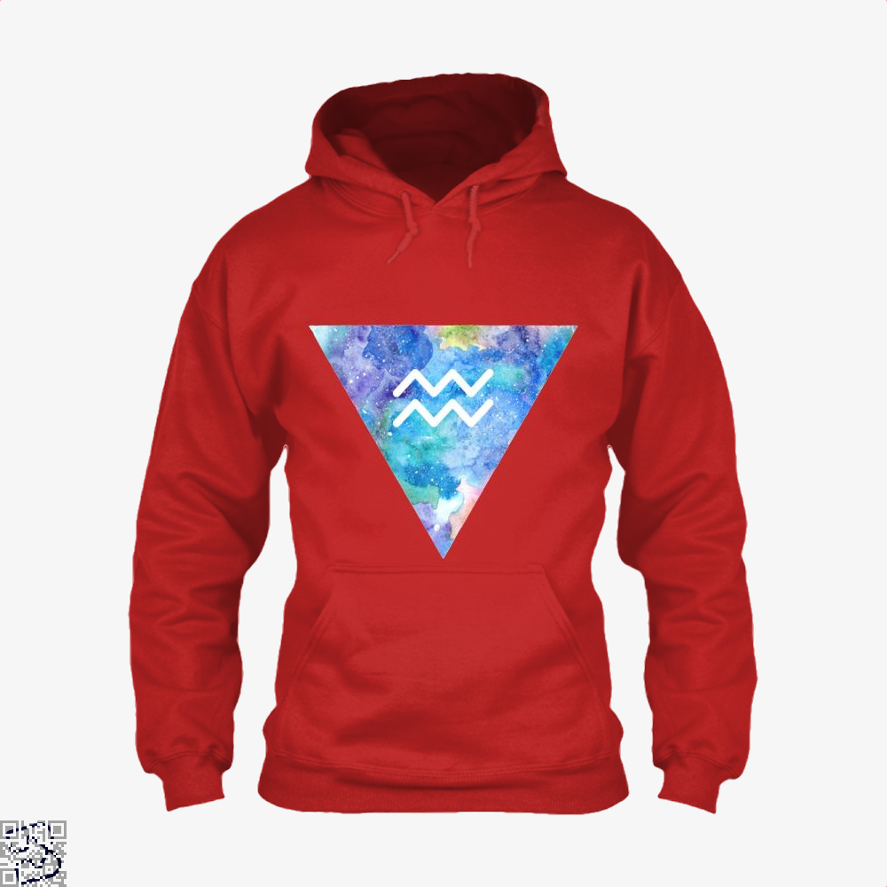 Aquarius Zodiac Astrology Hoodie - Red / X-Small - Productgenapi