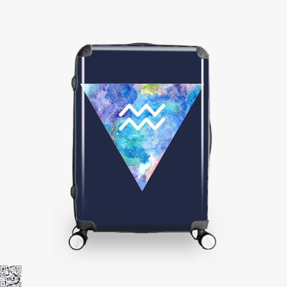 Aquarius Zodiac Astrology Suitcase - Blue / 16 - Productgenapi