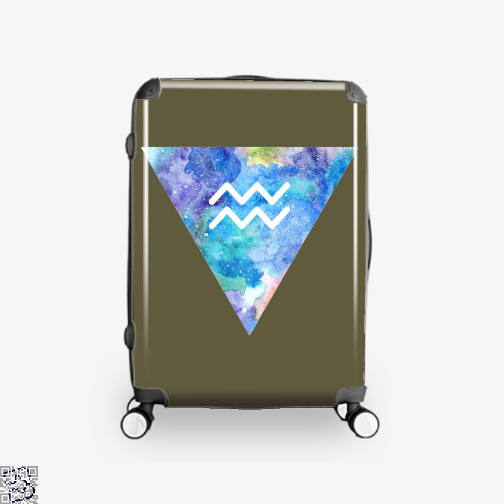 Aquarius Zodiac Astrology Suitcase - Brown / 16 - Productgenapi