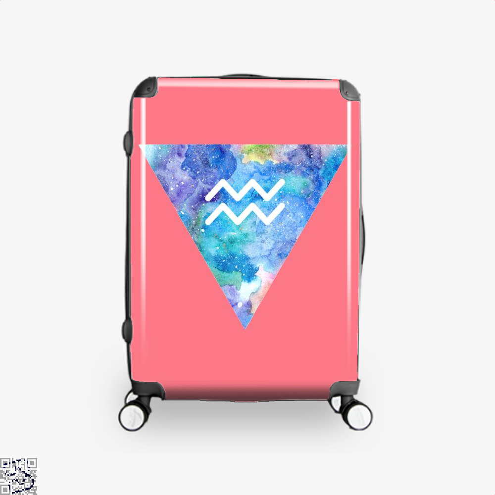 Aquarius Zodiac Astrology Suitcase - Pink / 16 - Productgenapi