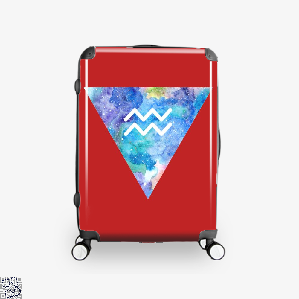 Aquarius Zodiac Astrology Suitcase - Red / 16 - Productgenapi
