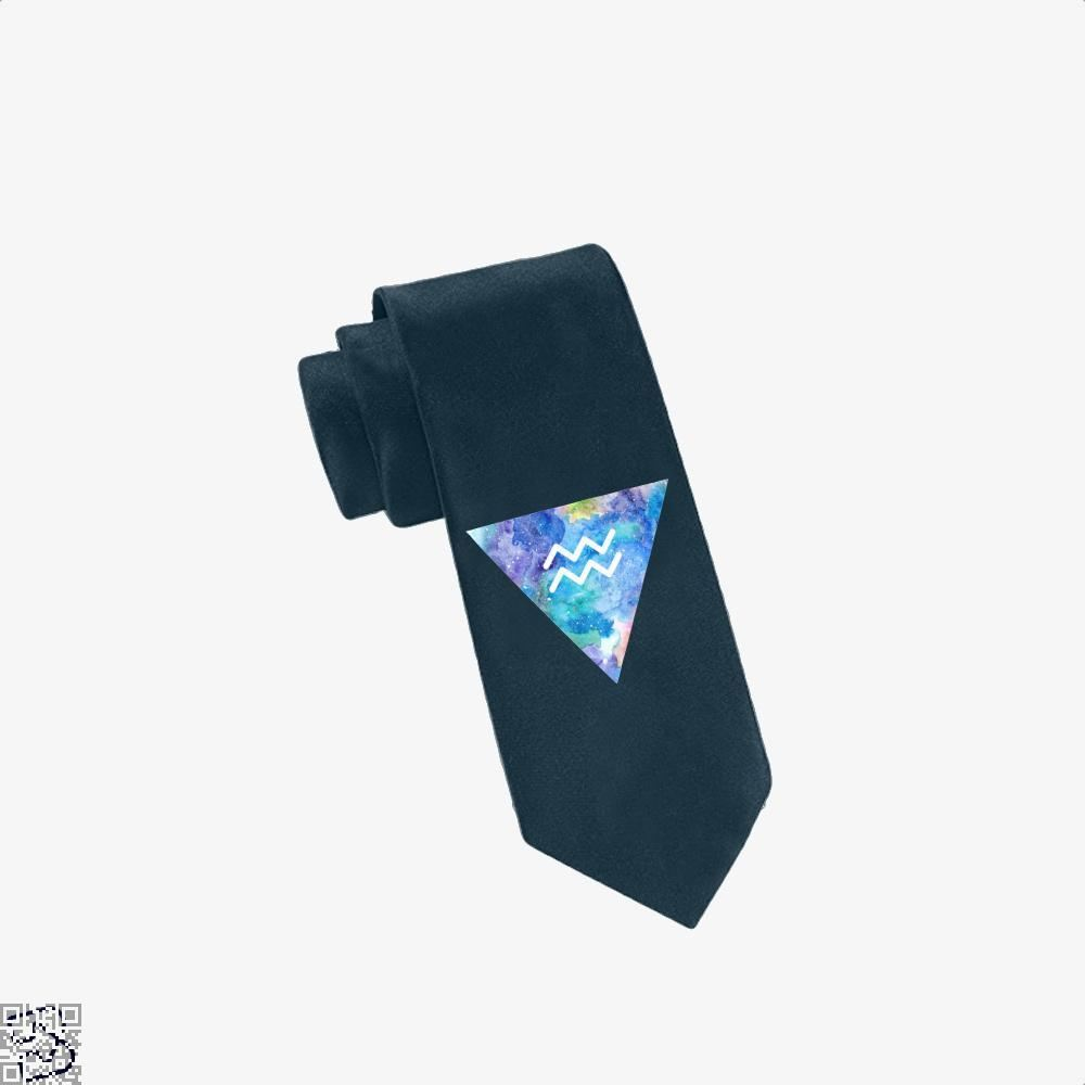 Aquarius Zodiac Astrology Tie - Navy - Productgenapi