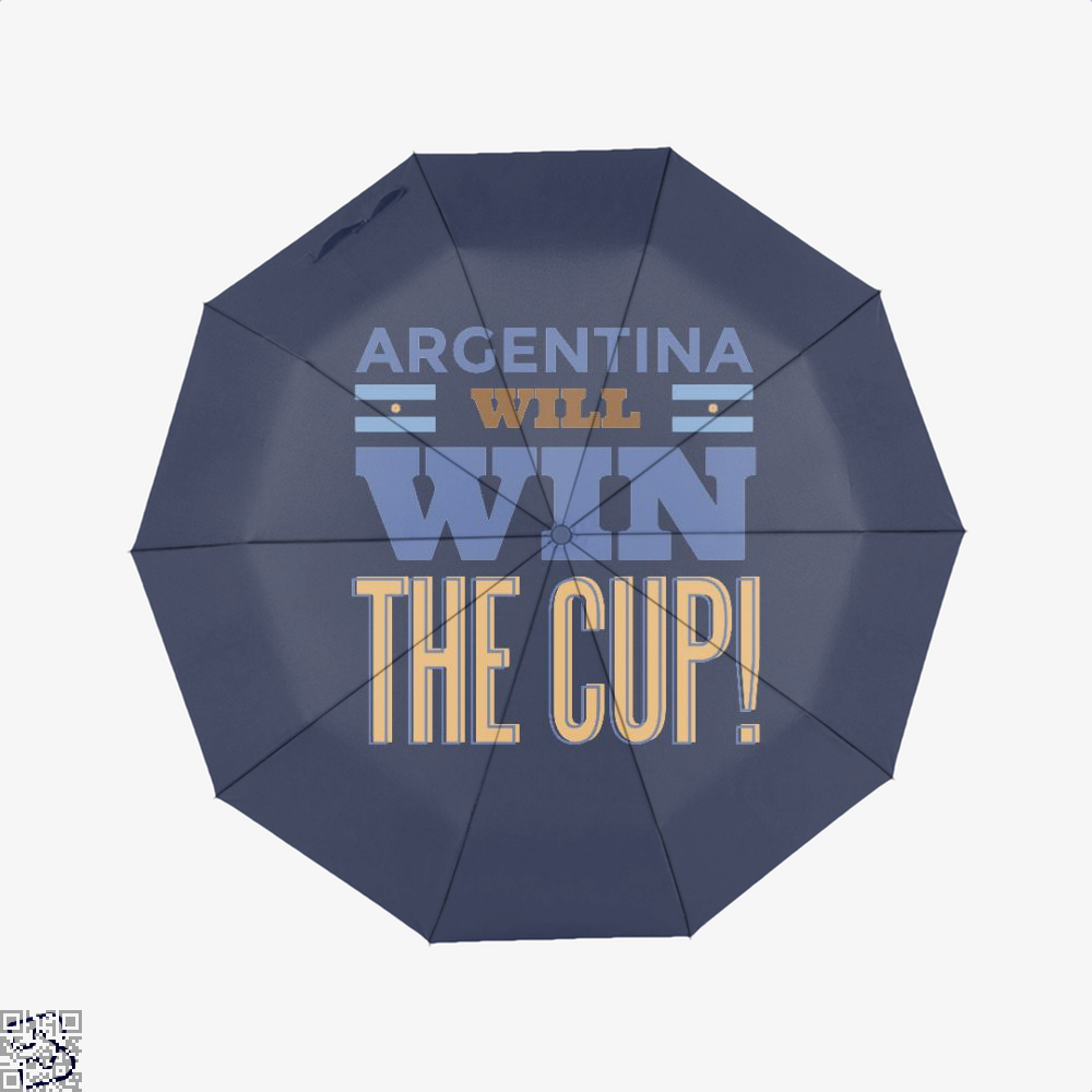 Argentina Will Win The Cup Fifa World Umbrella - Blue - Productgenapi