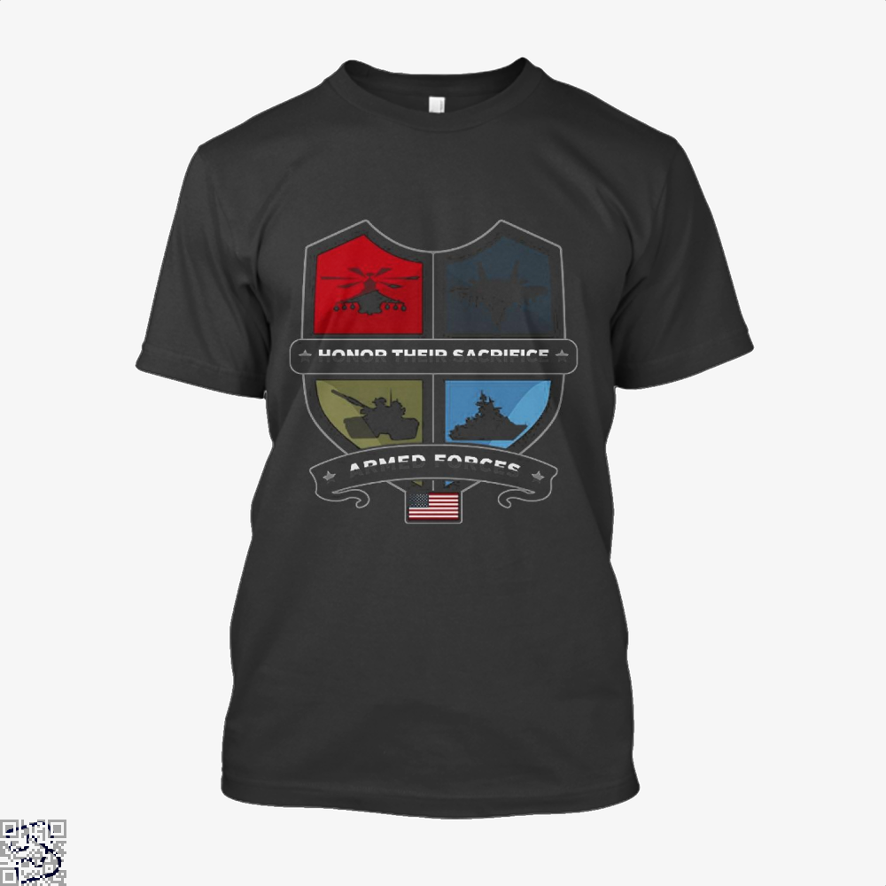 Armed Forcesday Honor Their Sacrifice Militar Deadpan Shirt - Men / Black / X-Small - Productgenjpg