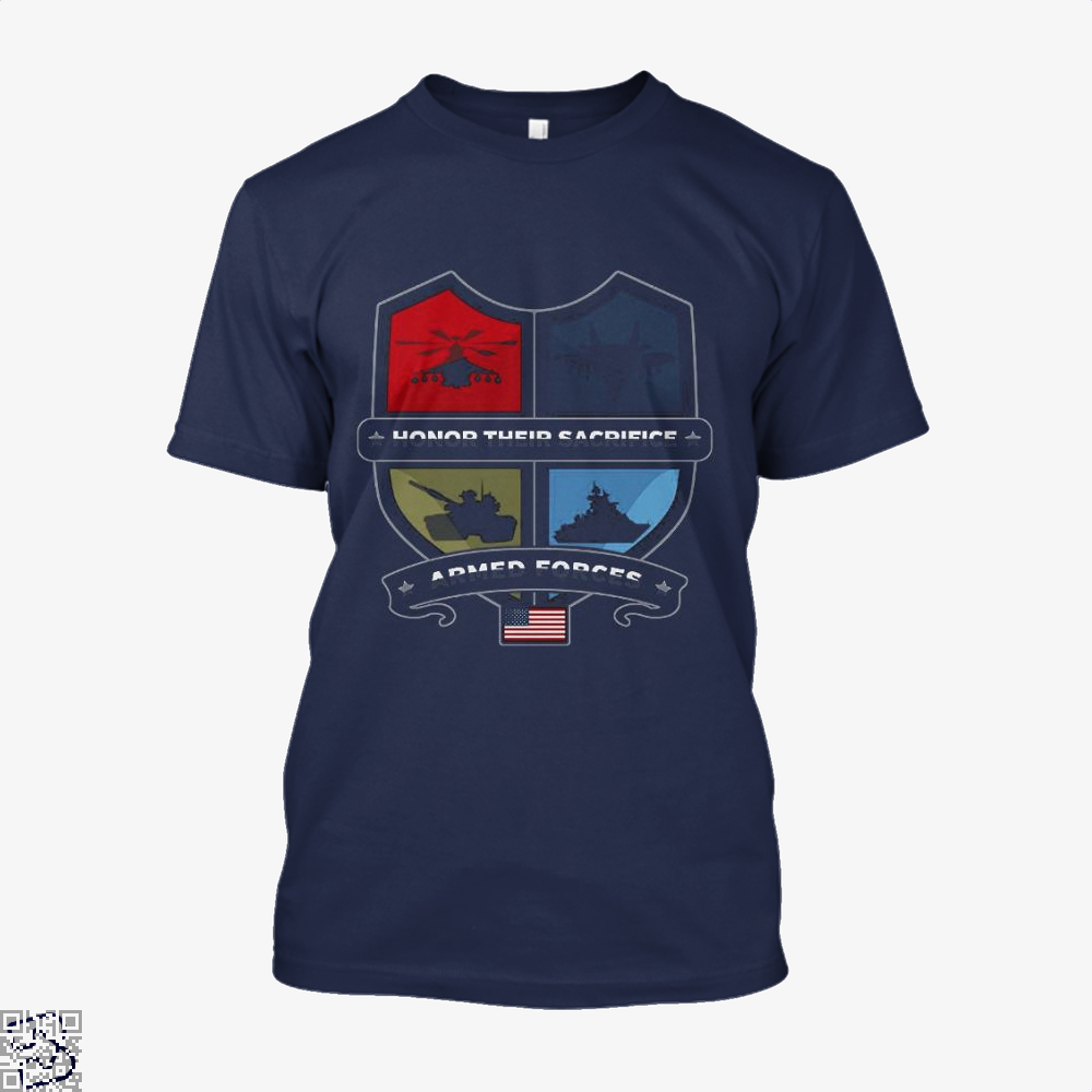 Armed Forcesday Honor Their Sacrifice Militar Deadpan Shirt - Men / Blue / X-Small - Productgenjpg