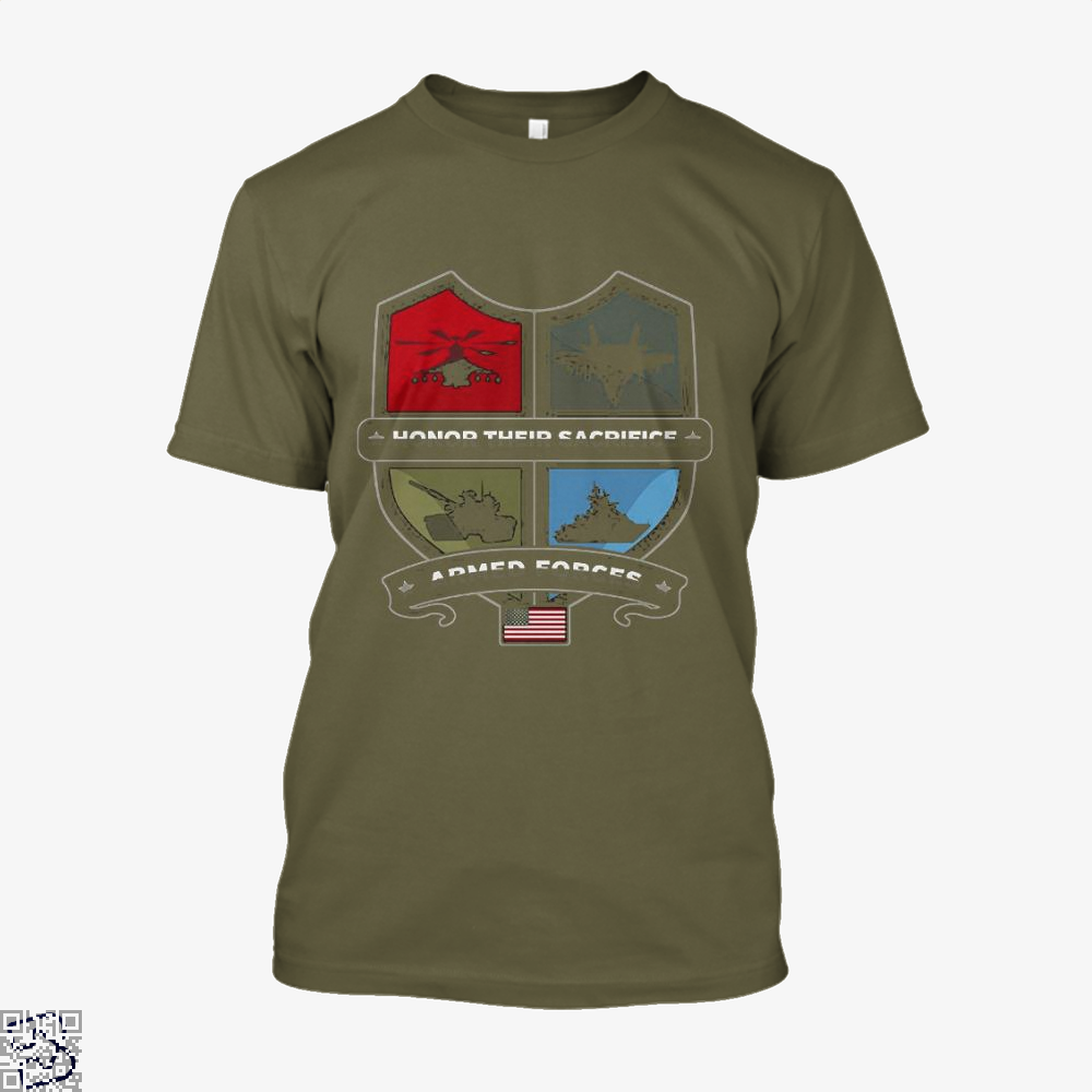 Armed Forcesday Honor Their Sacrifice Militar Deadpan Shirt - Men / Brown / X-Small - Productgenjpg