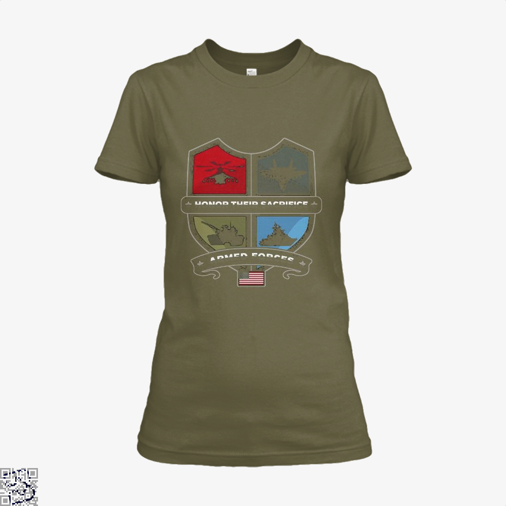 Armed Forcesday Honor Their Sacrifice Militar Deadpan Shirt - Women / Brown / X-Small - Productgenjpg