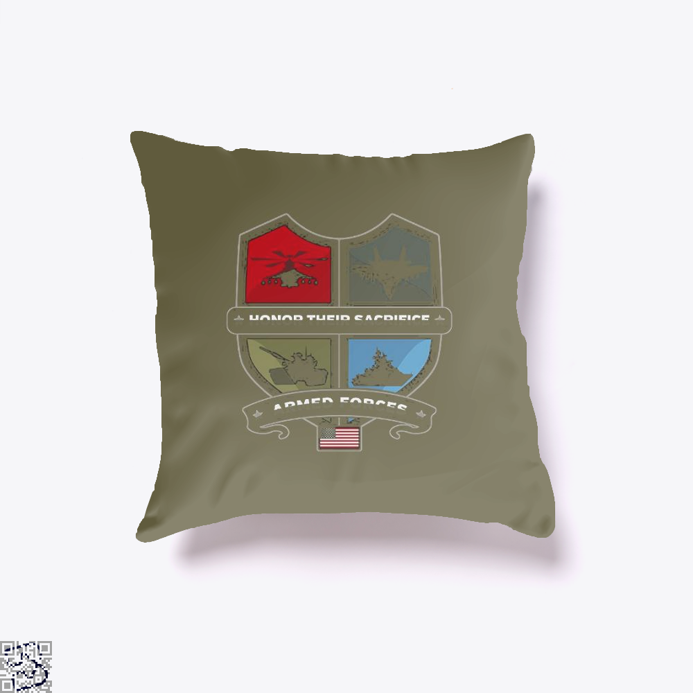 Armed Forcesday Honor Their Sacrifice Militar Deadpan Throw Pillow Cover - Brown / 16 X - Productgenjpg