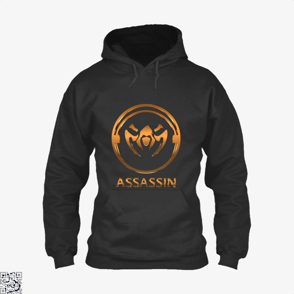 Assassin Gold Emblem Assassins Creed Hoodie - Black / X-Small - Productgenjpg