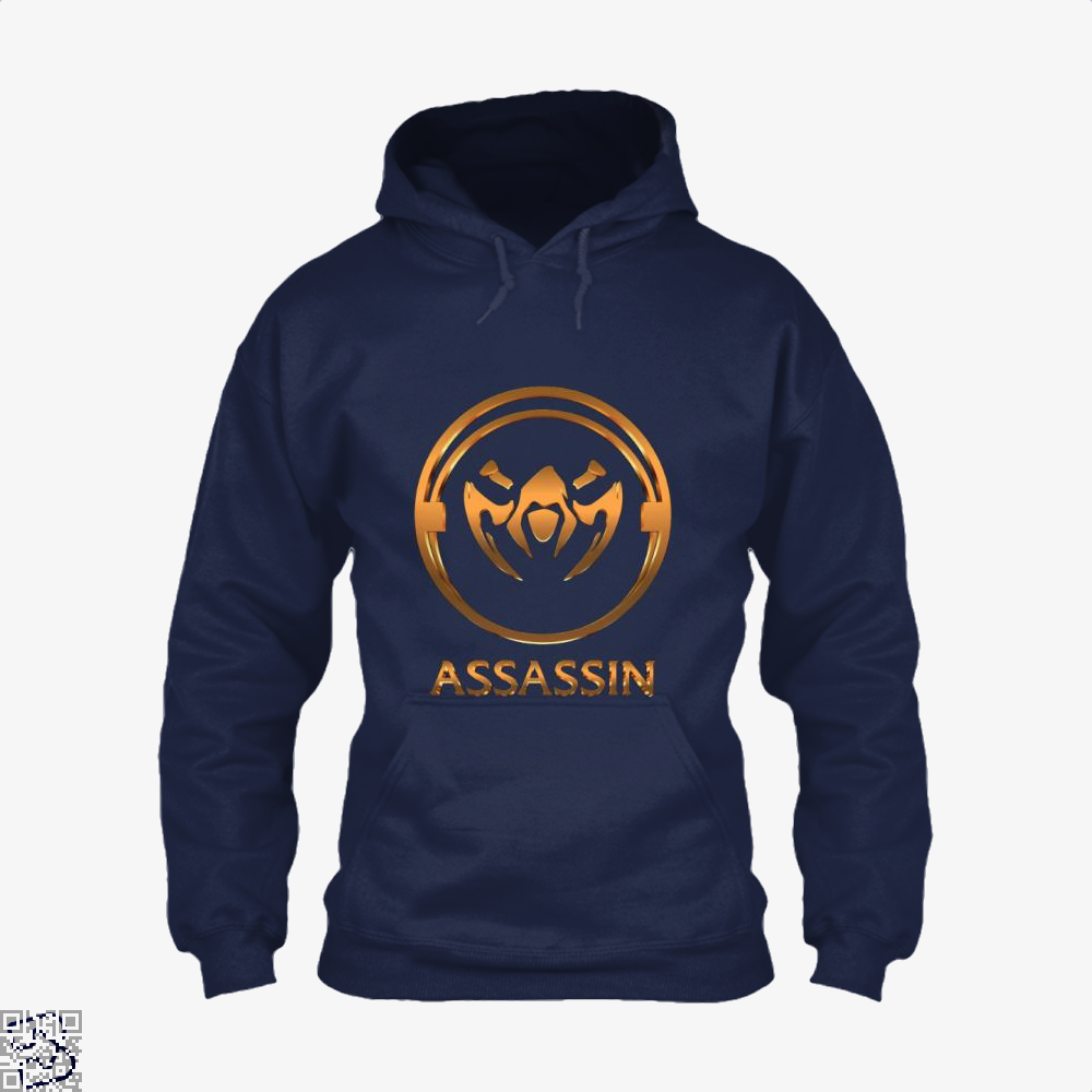 Assassin Gold Emblem Assassins Creed Hoodie - Blue / X-Small - Productgenjpg