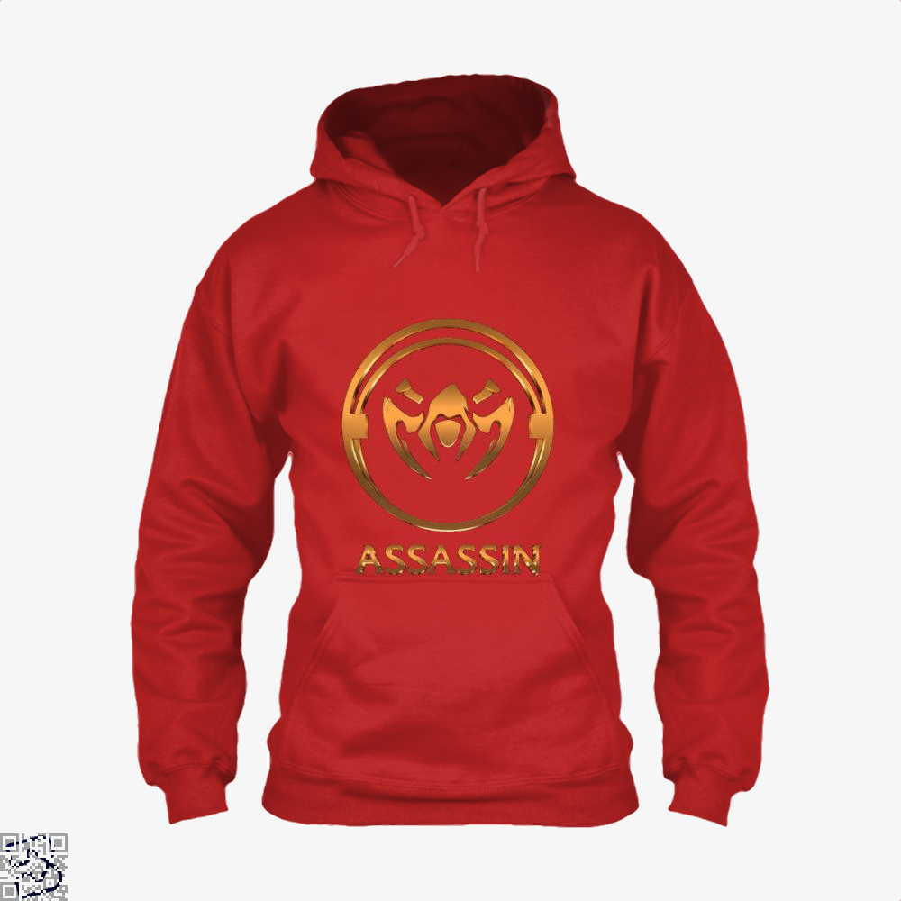 Assassin Gold Emblem Assassins Creed Hoodie - Red / X-Small - Productgenjpg